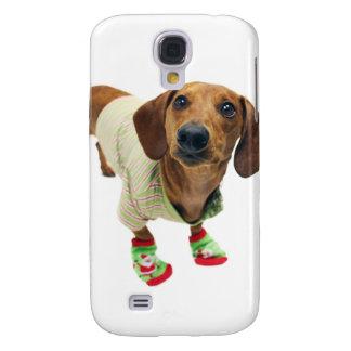Dachshund - merry christmas - cute dog samsung galaxy s4 cover