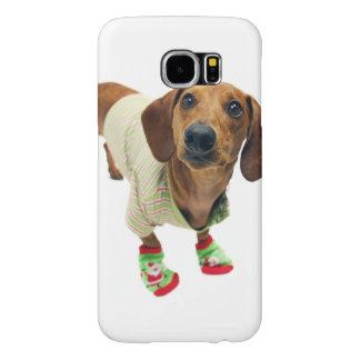 Dachshund - merry christmas - cute dog samsung galaxy s6 cases