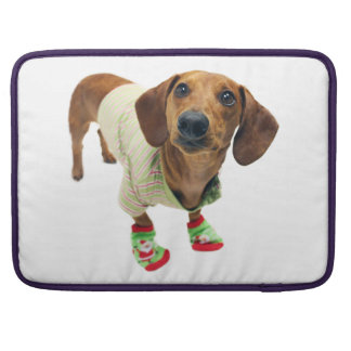 Dachshund - merry christmas - cute dog sleeve for MacBook pro