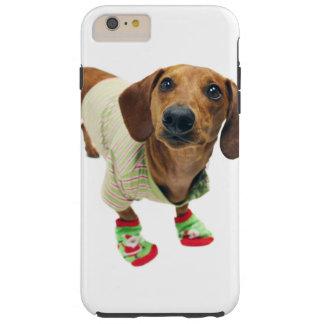 Dachshund - merry christmas - cute dog tough iPhone 6 plus case