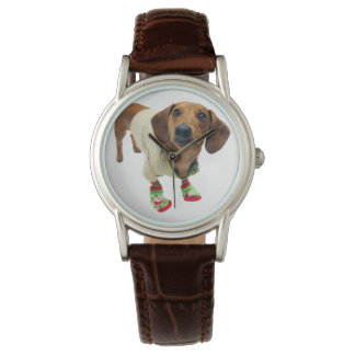 Dachshund - merry christmas - cute dog watch