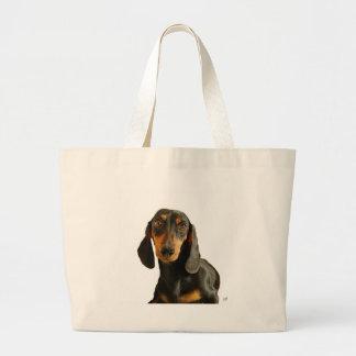 Dachshund ( Mini Brown Short Haired ) Jumbo Tote Bag