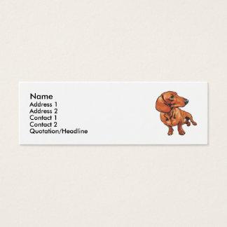 Dachshund Mini Business Card