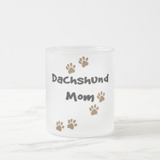 Dachshund Mom Frosted Glass Mug