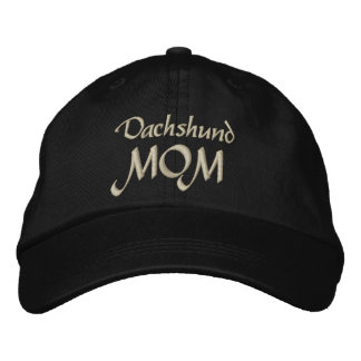 Dachshund Mom Gifts Embroidered Hats