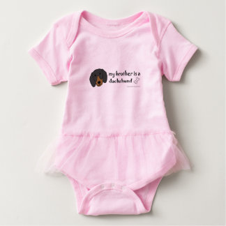 dachshund-more breeds baby bodysuit