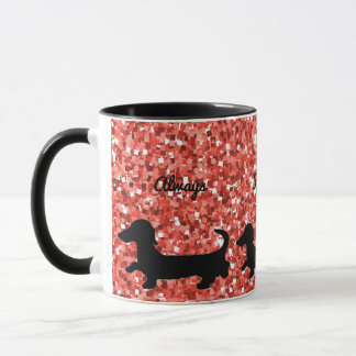 Dachshund Mug Follow Your Heart Doxie Lover Gift