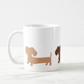 Dachshund Mug Masculine Brown Colors