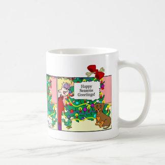 Dachshund Mug: Seasons Greetings Coffee Mug