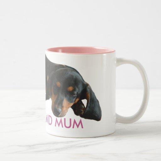 Dachshund Mum Sleepy Puppy Mug
