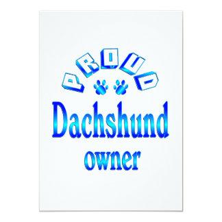 Dachshund Owner Card