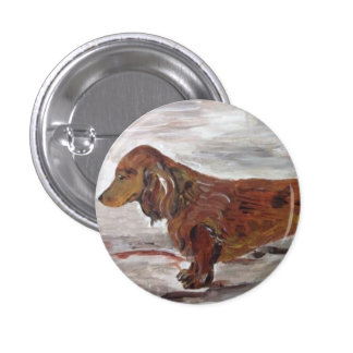 Dachshund Painting pin by Willowcatdesigns