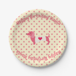Dachshund Party Plates Birthday Party Plates