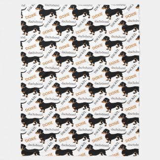Dachshund Pattern Fleece Blanket