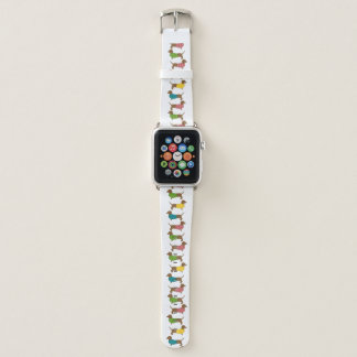 Dachshund Pattern Fun Colorful Dog Themed Apple Watch Band