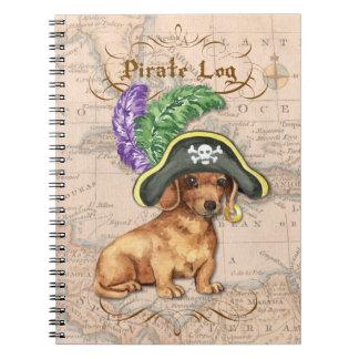 Dachshund Pirate Notebook