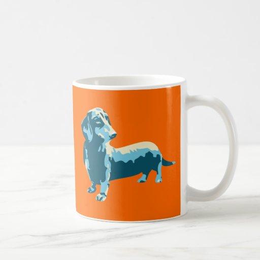 Dachshund Pop Art Dog Coffee Mugs