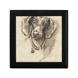 Dachshund portrait gift box