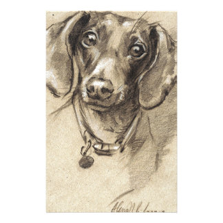 Dachshund portrait stationery