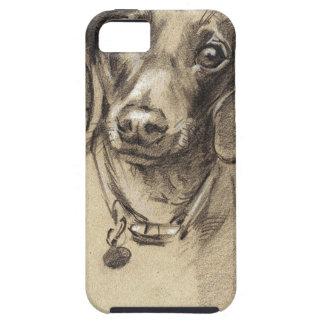 Dachshund portrait tough iPhone 5 case