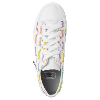Dachshund print printed shoes