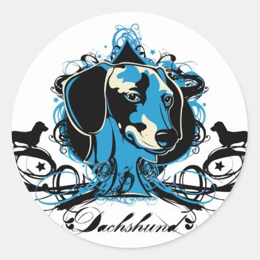 Dachshund Projekt Dog Illustration Stickers