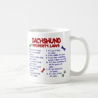 Dachshund Property Laws 2 Mugs