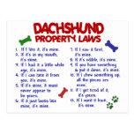 Dachshund Property Laws 2 Postcard