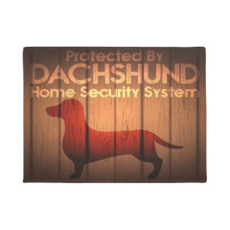 "Dachshund Protection 18"" x 24"" Door Mat"