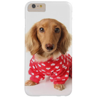 Dachshund Puppy Wearing Valentine's Outfit Barely There iPhone 6 Plus Case