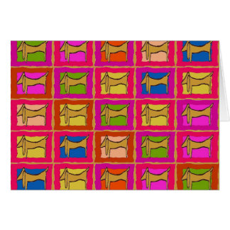 Dachshund Quilt Tiled Dogs Card