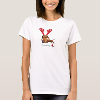 Dachshund Reindeer T-Shirt
