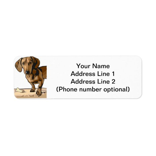 dachshund return address label