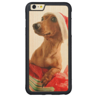 Dachshund santa - santa dog - dog gifts carved maple iPhone 6 plus bumper case