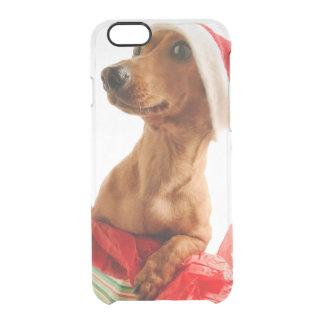 Dachshund santa - santa dog - dog gifts clear iPhone 6/6S case