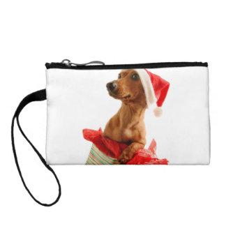 Dachshund santa - santa dog - dog gifts coin purse