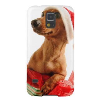 Dachshund santa - santa dog - dog gifts galaxy s5 cover