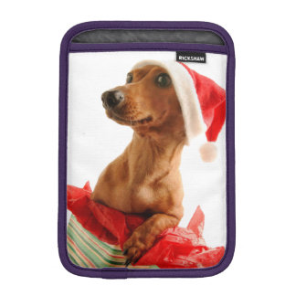 Dachshund santa - santa dog - dog gifts iPad mini sleeve