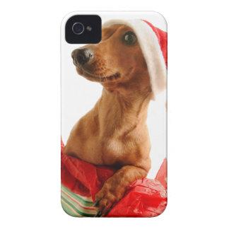 Dachshund santa - santa dog - dog gifts iPhone 4 case
