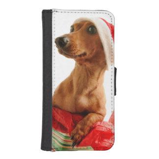 Dachshund santa - santa dog - dog gifts iPhone SE/5/5s wallet case