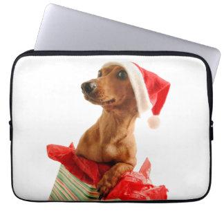 Dachshund santa - santa dog - dog gifts laptop sleeve