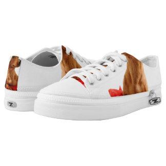 Dachshund santa - santa dog - dog gifts low tops