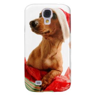 Dachshund santa - santa dog - dog gifts samsung galaxy s4 case