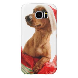 Dachshund santa - santa dog - dog gifts samsung galaxy s6 cases
