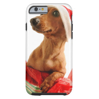 Dachshund santa - santa dog - dog gifts tough iPhone 6 case
