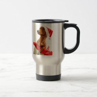 Dachshund santa - santa dog - dog gifts travel mug