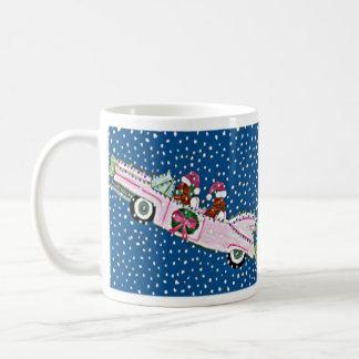 Dachshund Santas Christmas Cadillac Mug