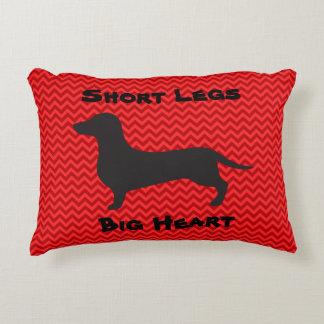 Dachshund - Short Legs Big Heart Accent Pillow