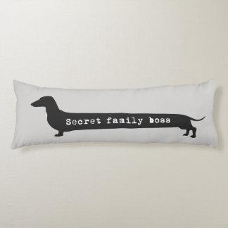 Dachshund silhouett secret family boss long pillow