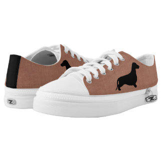 Dachshund silhouette black + your ideas low tops